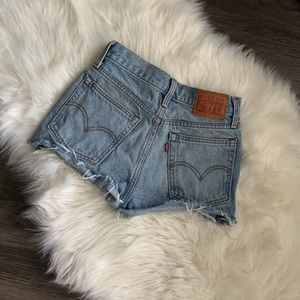 Levi's Light Wash Denim Distressed Cutoffs Size 24